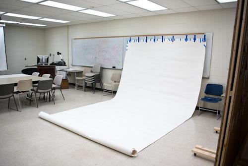 White Paper in Photo Studio